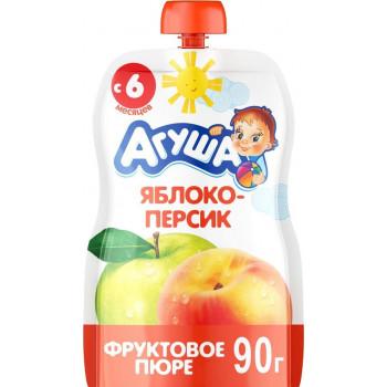 Агуша пюре сашет, яблоко-персик, c 6 месяцев, 90гр (28908)