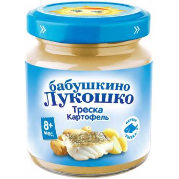 Бабушкино Лукошко пюре рыбное, треска и картофель, c 8 месяцев, 100гр (05484)