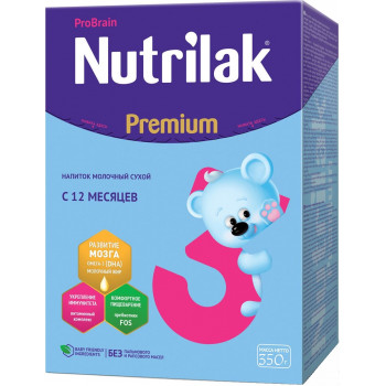 Nutrilak Рremium сухая молочная смесь #3, c 12 месяцев, 350гр (18684)