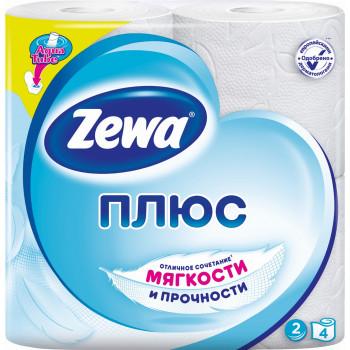 Zewa туалетная бумага Белая, 4 рулона, 2 слоя, 184 отрывов в рулоне (03308)