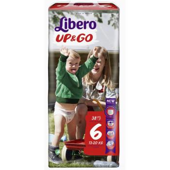 Libero up&go трусики #6, 13-20 кг, 38шт (32290)