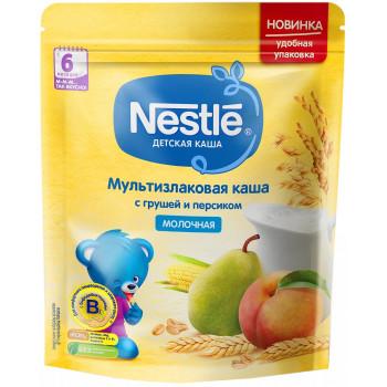 Nestle мультизлаковая каша с грушей и персиком, с 6 месяцев, 220гр (05775)