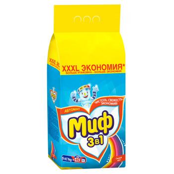 Миф Color стиральный порошок автомат, Свежий цвет, для цветного белья, 9кг (72762)