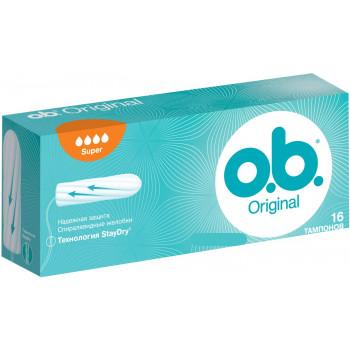 O.b Original super тампоны, 4 капли, 16шт (89332)