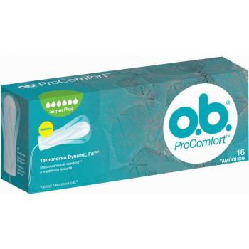 O.b Procomfort super plus тампоны, 6 капель, 16шт (07567)