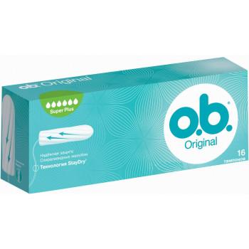 O.b Original super plus тампоны, 6 капель, 16шт (89356)