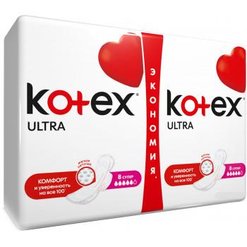 Kotex Ultra ультратонкие гигиенические прокладки, 5 капель, 16шт (42652)