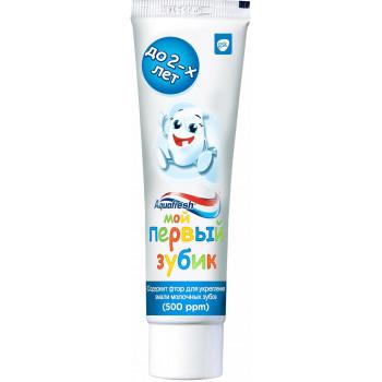 Aquafresh Мой первый зубик детская зубная паста, от 1 до 2 лет, 50мл (94794)
