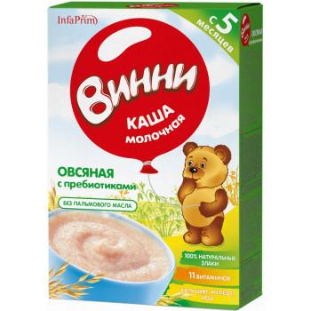 Винни овсяная каша с пребиотиками, с молоком, с 5 месяцев, 200гр (04794)