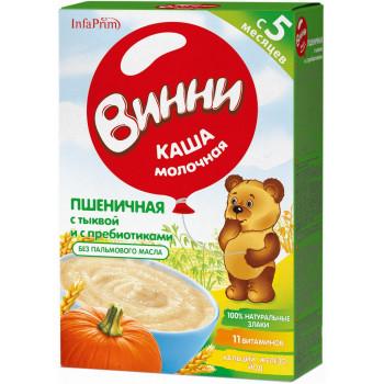 Винни пшеничная каша с тыквой и пребиотиками, с молоком, с 5 месяцев, 200гр (04909)