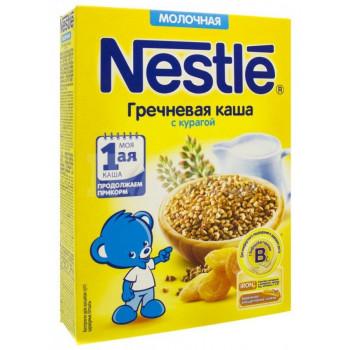 Nestle каша молочная, гречка с курагой, с 5 месяцев, 220гр (00430)