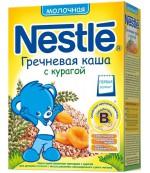 Nestle каша молочная, гречка с курагой, с 5 месяцев, 220гр (31108)