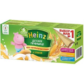 Heinz  детское печенье, 6 злаков, c 6 месяцев, 160гр (18710)