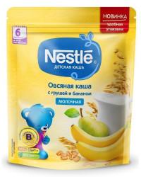 Nestle молочная овсяная каша с грушей и бананом, с 6 месяцев, 220гр (00270)