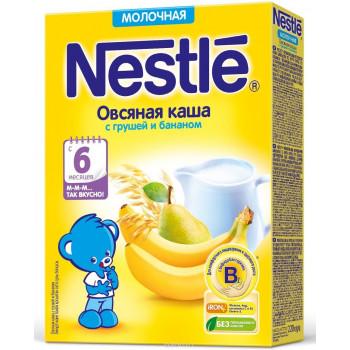 Nestle каша молочная, овсяная груша,банан, с 6 месяцев, 220гр (00270)