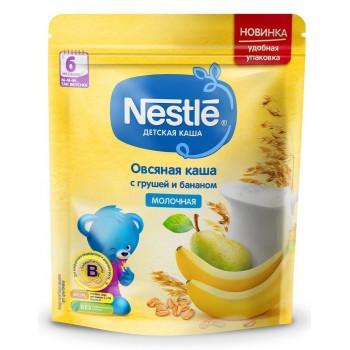 Nestle овсяная каша с грушей и бананом, с молоком, с 6 месяцев, 220гр (00270)