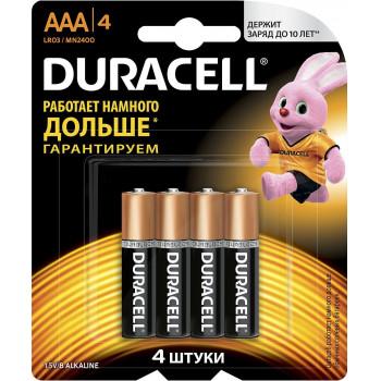 Duracell батарейки мизинчиковые ААА 4шт (16085)