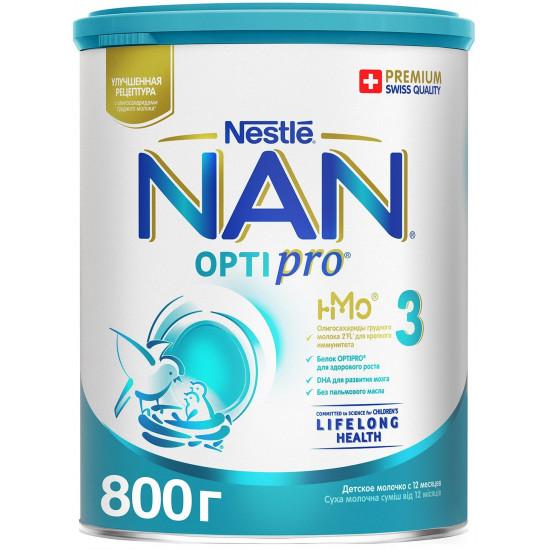 Nestle NAN Optipro сухая молочная смесь #3, c 12 месяцев, 800гр (58869)