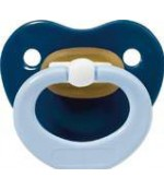 Baby Nova пустышка латексная ортодонтическая с кольцом, синяя, 6-18 месяцев, 1шт (25766) (51663)