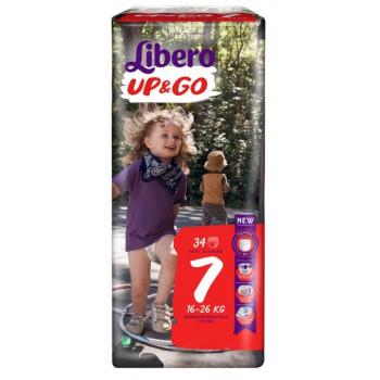 Libero Up&Go трусики #7, 16-26 кг, 34шт (32818)