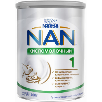 Nestle NAN сухая кисломолочная смесь #1, с рождения, 400гр (83362)