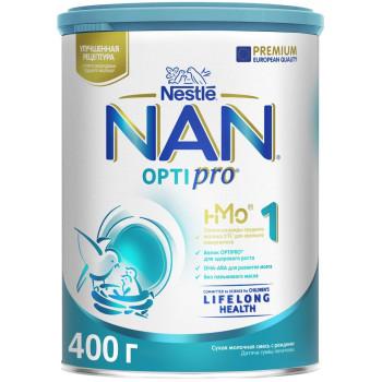 Nestle NAN OPTIPRO сухая молочная смесь #1, с рождения, 400гр (15083)