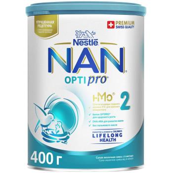 Nestle NAN OPTIPRO сухая молочная смесь #2, с 6-12 месяцев, 400гр (58616)