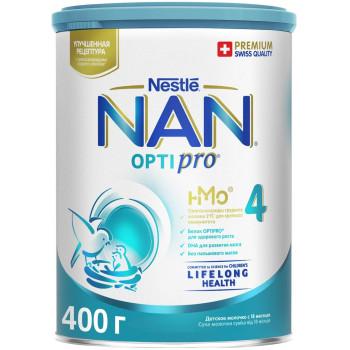 Nestle NAN OPTIPRO сухая молочная смесь #4, с 18 месяцев, 400гр (35460)