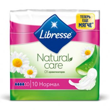 Libresse natural care normal гигиенические прокладки, 4 капли, 10шт (23300)