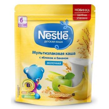 Nestle мультизлаковая каша с яблоком и бананом, с молоком, с 6 месяцев, 220гр (00317)