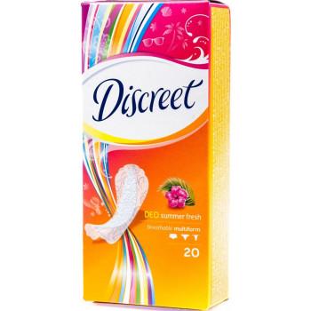 Discreet summer fresh ежедневные прокладки, 1 капля, 20шт (41505)
