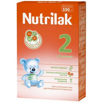 Nutrilak сухая молочная смесь #2, c 6 месяцев, 350г (18080)