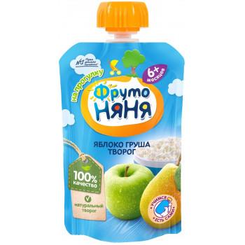 Фруто Няня пюре сашет, яблоко, груша и творог, c 6 месяцев, 90гр (06604)