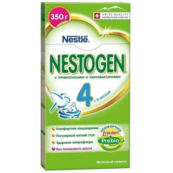 Nestogen сухая молочная смесь с пребиотиками, #4, c 18+ месяцев, 350гр (44226)