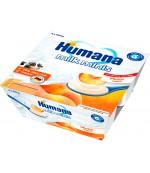 Humana йогурт (с персиком) шт 4шт*100гр с 6 месяцев (01121)