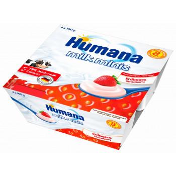 Humana молочный десерт с клубникой, с 8 месяцев, 4шт*100гр (84421)
