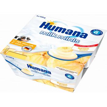 Humana молочный десерт с бананом, с 6 месяцев, 4шт*100гр (84414)