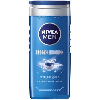 Nivea men гель для душа, Пробуждающий, 250мл (01175)
