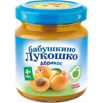 Бабушкино Лукошко пюре фруктовое, абрикос, с 4 месяцев, 100гр  (02087)