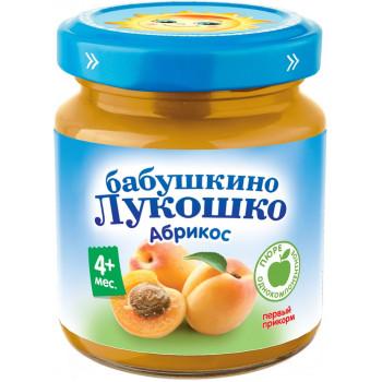 Бабушкино Лукошко пюре, абрикос, с 4 месяцев, 100гр (02087)
