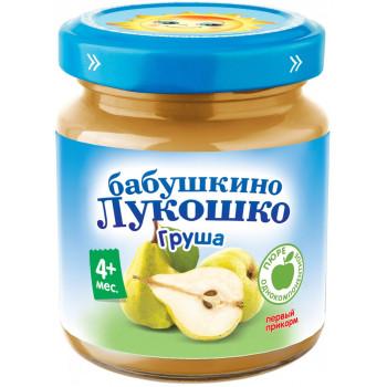 Бабушкино Лукошко пюре, груша, с 4 месяцев, 100гр (02223)