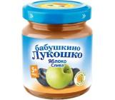 Бабушкино Лукошко пюре фруктовое, яблоко,слива, с 5 месяцев, 100гр (00588)
