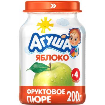 Агуша пюре, яблоко, с 4 месяцев, 200гр (01704)