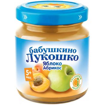 Бабушкино Лукошко пюре, яблоко и абрикос, с 5 месяцев, 100гр (02094)
