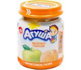 Агуша пюре фруктовое, яблоко, персик, с 5 месяцев, 115гр  (04330)