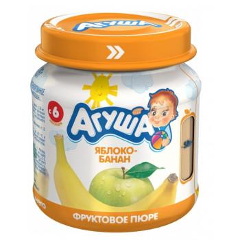 Агуша пюре, фруктовое яблоко-банан, с 6 месяцев, 115гр  (04170)