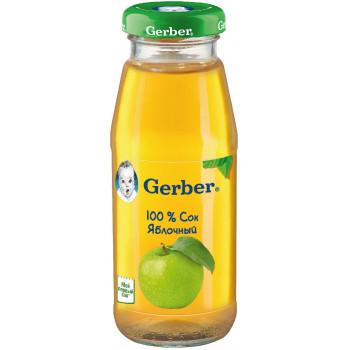 Gerber сок яблочный, с 4 месяцев, 175мл (00205)