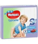 Huggies #6 трусики-подгузники 16-22 кг, для мальчиков, 30шт (44045)