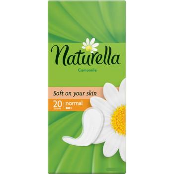 Naturella normal ежедневные прокладки, ромашка, 2 капли, 20шт (40310)