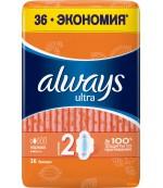 Always Ultra гигиенические прокладки, Нормал, 4 капли, 36шт (95088)